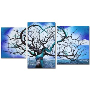 3pieceheartandtreepainting