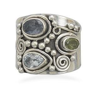 Iolite ring