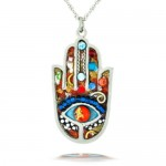 Hamsa Necklace with Evil Eye