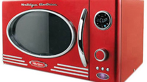 Retro Nostalgia LED Microwave